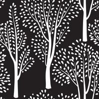Natur sömlöst mönster. Skogsbelagd bakgrund.