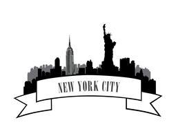 Skyline von New York, USA. Amerikanischer Stadtreisemarkstein