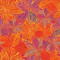Blumenmuster. Blumen nahtloser Hintergrund. Blühender Ziergarten