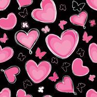 Kärlek hjärta klotter sömlös mönster Alla hjärtans dag semester kakel prydnad