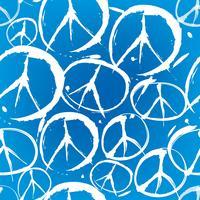 sömlöst mönster med mångfärgade symboler för fred vektor