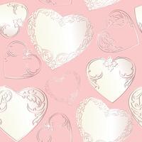 Linie Kunst lve Herzen nahtloses Muster. Valentinstag Urlaub Ornament