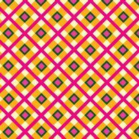 Stoff Ornament. Quadratischer geometrischer Hintergrund des nahtlosen Schottenstoffmusters