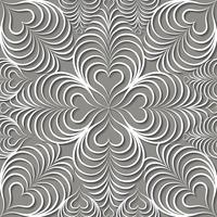 Arabisk virvel linje prydnad. Orientaliskt blommigt sömlöst mönster vektor