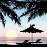 Sommerferien Hintergrund. Blick aufs Meer. Tapete des Strandurlaubsorts