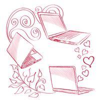 Laptop-Set Computer-Anschlusskonzept. Zeichen der sozialen Zusammenarbeit vektor
