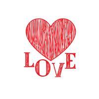 Kärlek hjärtan mönster. Alla hjärtans dag semester dekor element vektor