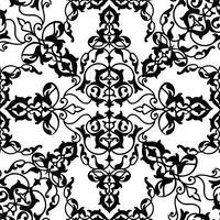 Arabische Blumenstrudellinie Verzierung. Orientalisches nahtloses Blumenmuster vektor