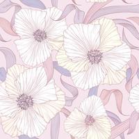 Blommigt sömlöst mönster. Blomma bakgrund. Blommiga vårträdgård vektor