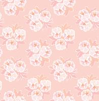 Blumenmuster. Blumen nahtloser Hintergrund. Blühender Ziergarten vektor