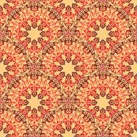 Arabische Blumenstrudellinie Verzierung. Orientalisches nahtloses Blumenmuster