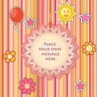 Baby Spielzeug Lacy Frame. Grußkarte Dekor Kinder Urlaub Hintergrund vektor