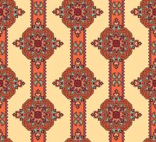 Abstraktes Blumenornament. Flourish dekoratives nahtloses Muster