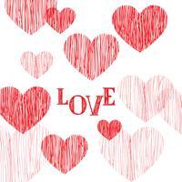 Glad hjärtans dag hälsningskort. Kärlek hjärta bakgrund