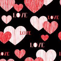 Kärlek hjärta sömlöst mönster. Lycklig Alla hjärtans dag bakgrund