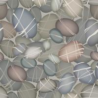 Havstenar undervattens sömlösa mönster. Stenbakgrund vektor