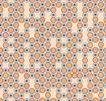 Abstrakt geometriskt mönster. Cirkel prydnad. Polka dot kakel prydnad vektor