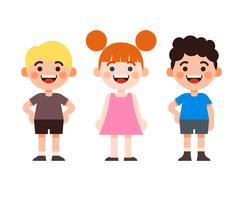 Barn teckenuppsättning vektor