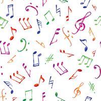 Musikmuster Musiknoten und nahtloser Hintergrund der Zeichen