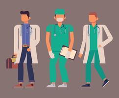 Sjukvård karaktärer vektor