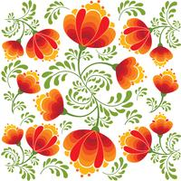 Virvel blommig sömlös mönster. Ornamental bakgrund i rysk stil. vektor