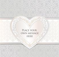 Liebesherz-Feiertagshintergrund-Grußkarte. Romantischer Datumsrahmen. vektor