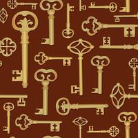 Vintage Schlüssel nahtlose Hintergrund. Schließen Sie das Türfliesenmuster