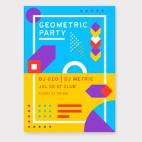Geometrisches Party-Plakat-Design