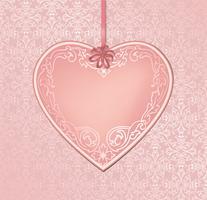 Kärlek hjärtan semester bakgrund hälsningskort. Romantisk datumram.