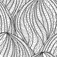 Abstraktes nahtloses Muster. Orientalische Strudellinie mit Blumenbeschaffenheit vektor