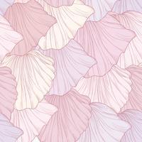 Floral nahtlose Muster, gravierte Blütenblätter. Flourish Textur