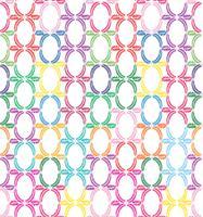 Blumenmuster Abstrakte Blumenblätter verzieren geometrischen Hintergrund vektor