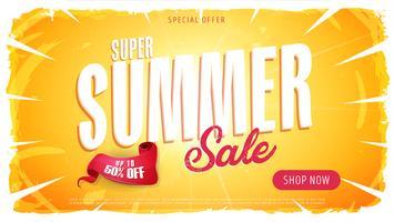Sommerschlussverkauf Vorlage Banner vektor
