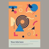 Affisch med geometriska element