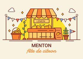 Zitronenfestival-Vektor Menton Frankreich