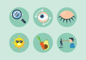 ögon hälsa tecken vektor