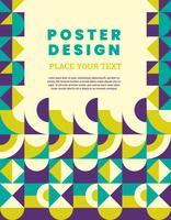 Geometrisk affischdesign