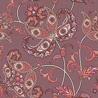 Floral sömlös bakgrund. Orientalisk prydnad. Blommönster.