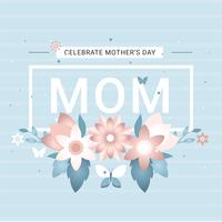 Vektor Muttertagsgrußkarte