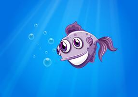 Ein dreiäugiger Fisch vektor