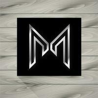 Logo Konzept Buchstabe M vektor