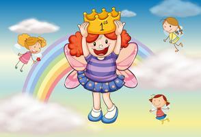 Ein Mädchen mit einer Krone