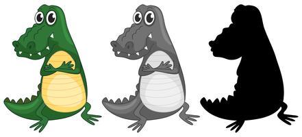 Krokodil-Zeichensatz vektor