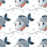Ein Tapetendesign mit großen Fischen
