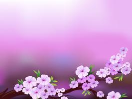 Ein Lavendelbriefpapier mit Blumen vektor