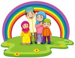 Muslimska familjen vektor