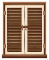 Fensterdesign mit braunem Rahmen