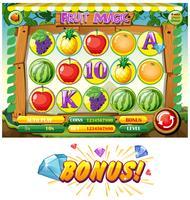 Spielschablone mit Früchten