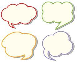 Vier verschiedene Cloud-Sprachvorlagen