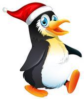 Ein Pinguincharakter auf weißem Hintergrund vektor